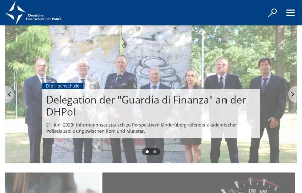 Vorschau von www.dhpol.de, Deutsche Hochschule der Polizei (DHPol)