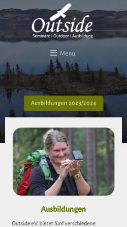 Vorschau der mobilen Webseite www.out-side.net, Outside e.V.