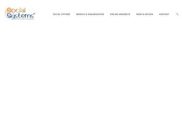 Vorschau von www.social-systems.de, Social Systems - Systemische Organisationsberatung
