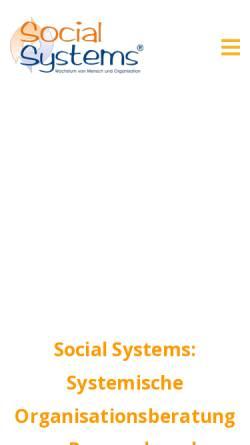 Vorschau der mobilen Webseite www.social-systems.de, Social Systems - Systemische Organisationsberatung