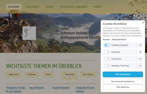Vorschau von www.svakt.ch, Anthroposophische Kunsttherapie - SVAKT