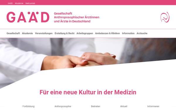 Vorschau von www.gaed.de, Gesellschaft Anthroposophischer Ärzte in Deutschland e. V.