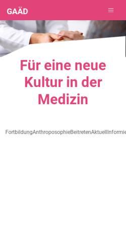 Vorschau der mobilen Webseite www.gaed.de, Gesellschaft Anthroposophischer Ärzte in Deutschland e. V.