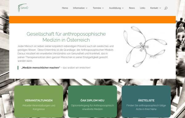 Vorschau von www.anthromed.at, Gesellschaft Anthroposophischer Ärzte Österreichs