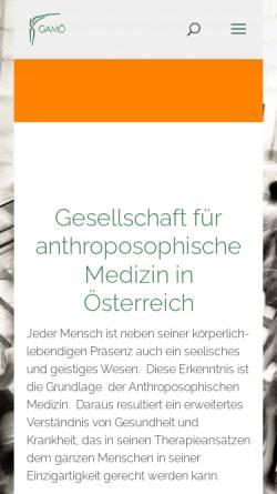 Vorschau der mobilen Webseite www.anthromed.at, Gesellschaft Anthroposophischer Ärzte Österreichs