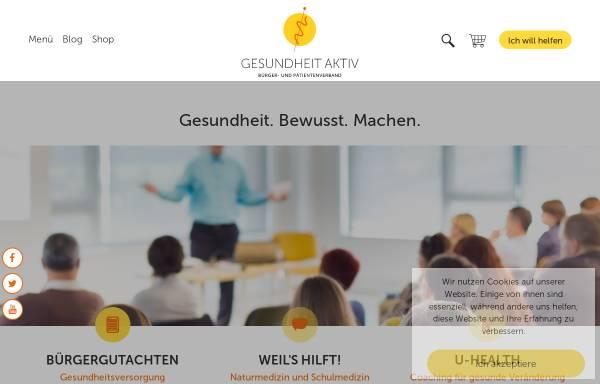 Vorschau von www.gesundheit-aktiv.de, Gesundheit aktiv - Anthroposophische Heilkunst e.V.