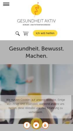 Vorschau der mobilen Webseite www.gesundheit-aktiv.de, Gesundheit aktiv - Anthroposophische Heilkunst e.V.