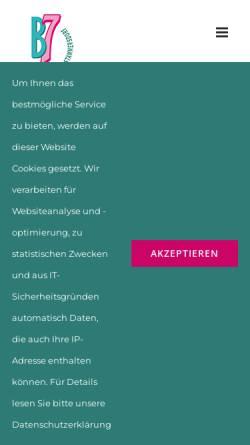 Vorschau der mobilen Webseite www.b7-shopping.at, Ekazent B7 Stammersdorf