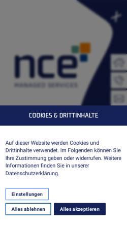 Vorschau der mobilen Webseite www.nce.de, NCE Computer GmbH