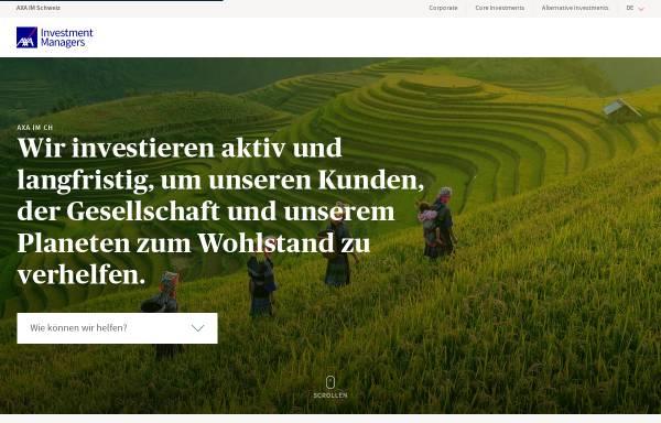 Vorschau von www.axa-im.ch, AXA Investment Managers Limited
