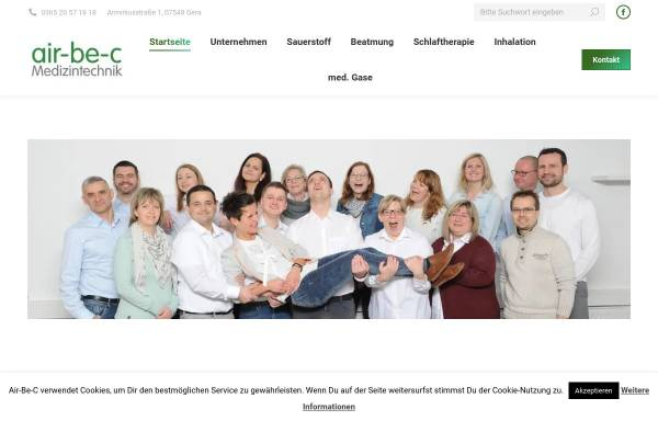 Vorschau von www.sauerstoffgeraet.de, Sanitätshaus Belger GmbH