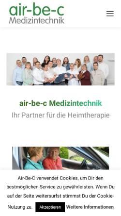 Vorschau der mobilen Webseite www.sauerstoffgeraet.de, Sanitätshaus Belger GmbH