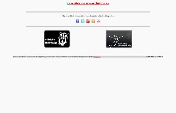 Vorschau von www.ssv-archiv.de, SSV Archiv