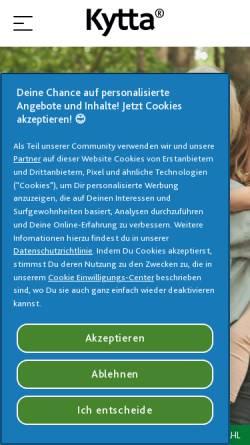 Vorschau der mobilen Webseite www.kytta.de, Kytta