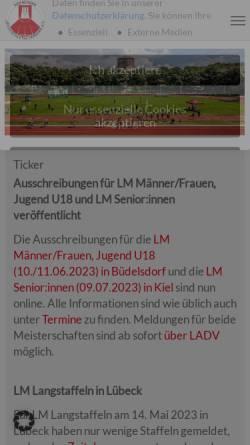 Vorschau der mobilen Webseite hhlv.de, Hamburger Leichtathletik-Verband