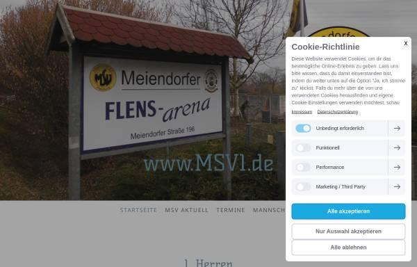 Vorschau von msv-1.de, Meiendorfer Sportverein Hamburg von 1949 e.V.