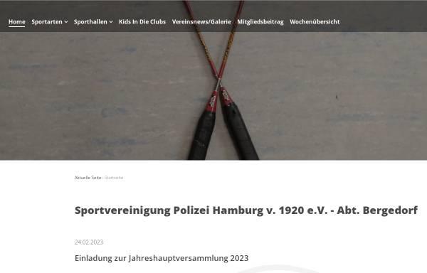 Vorschau von svpolizei-bergedorf.de, SV Polizei Bergedorf