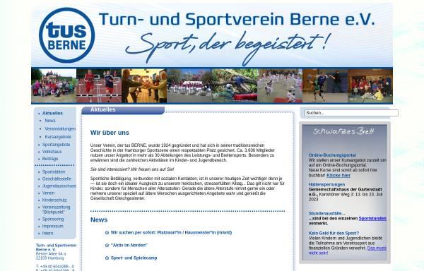 Vorschau von www.tusberne.de, Turn- und Sportverein Berne e.V.