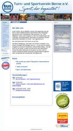 Vorschau der mobilen Webseite www.tusberne.de, Turn- und Sportverein Berne e.V.