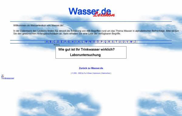 Vorschau von lexikon.wasser.de, Wasser.se Lexikon