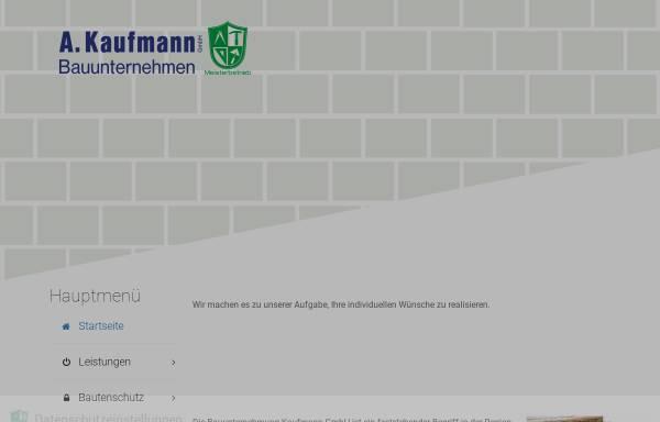 Vorschau von www.bau-kaufmann.de, Andre Kaufmann Bauunternehmen GmbH