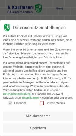 Vorschau der mobilen Webseite www.bau-kaufmann.de, Andre Kaufmann Bauunternehmen GmbH