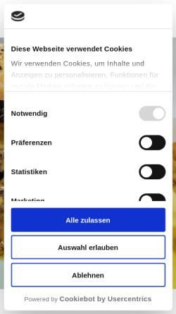 Vorschau der mobilen Webseite www.krambergsmuehle.de, Hotel Restaurant Krambergsmühle