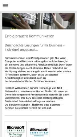 Vorschau der mobilen Webseite www.n-t.de, Netzwerke und Training EDV-Dienstleistungsgesellschaft mbH