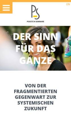 Vorschau der mobilen Webseite www.poostchi.de, Poostchi Seminare - Kambiz Poostchi