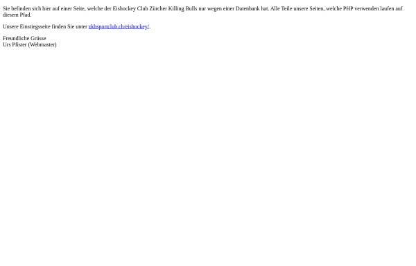 Vorschau von www.killingbulls.ch, EHC Zürcher Killing Bulls