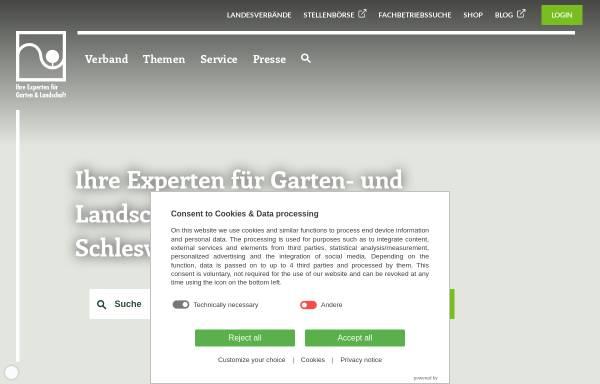 Vorschau von www.galabau-nord.de, Fachverband Garten-, Landschafts- und Sportplatzbau Hamburg und Schleswig-Holstein e.V.