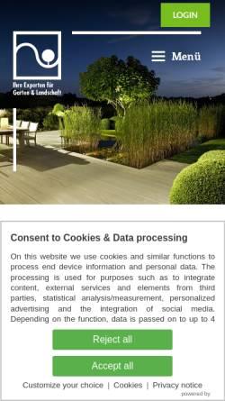 Vorschau der mobilen Webseite www.galabau-nord.de, Fachverband Garten-, Landschafts- und Sportplatzbau Hamburg und Schleswig-Holstein e.V.