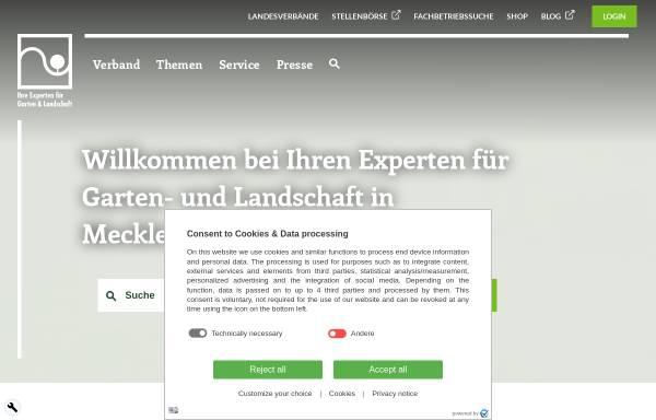 Vorschau von www.galabau-mv.de, Fachverband Garten-, Landschafts- und Sportplatzbau Mecklenburg-Vorpommern e.V