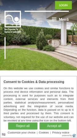 Vorschau der mobilen Webseite www.galabau-mv.de, Fachverband Garten-, Landschafts- und Sportplatzbau Mecklenburg-Vorpommern e.V
