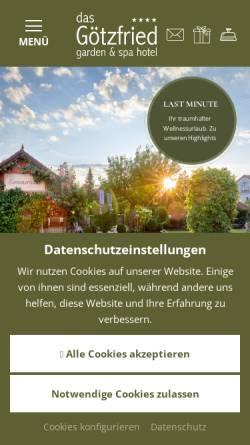 Vorschau der mobilen Webseite www.hotel-goetzfried.de, Hotel Gasthof Götzfried