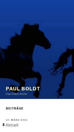 Vorschau der mobilen Webseite www.paul-boldt.de, Paul Boldt Online-Archiv