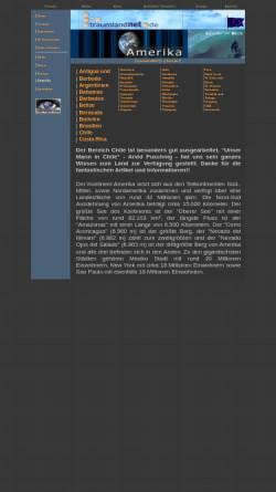 Vorschau der mobilen Webseite www.traumlandnet.de, Amerikanische Länder im Blick