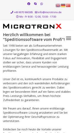 Vorschau der mobilen Webseite www.microtronx.de, MicrotronX Hard- & Software Consulting, Inh. Yusuf Zorlu