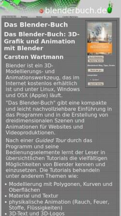Vorschau der mobilen Webseite www.blenderbuch.de, Das Blender-Buch