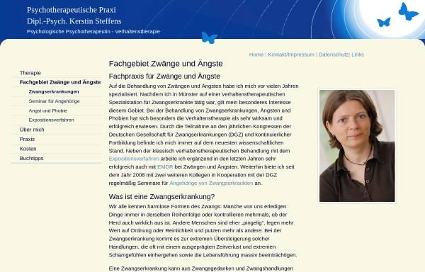 Vorschau von www.praxis-fuer-zwaenge-und-aengste.de, Dipl. Psych. Kerstin Steffens