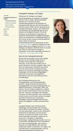 Vorschau der mobilen Webseite www.praxis-fuer-zwaenge-und-aengste.de, Dipl. Psych. Kerstin Steffens