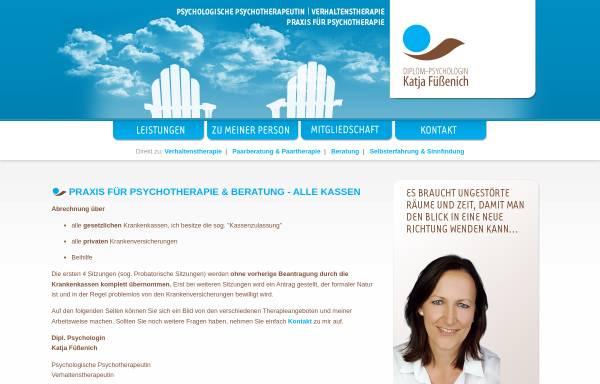 Vorschau von www.psychotherapie-fuessenich.de, Dipl.-Psychologin Katja Füßenich