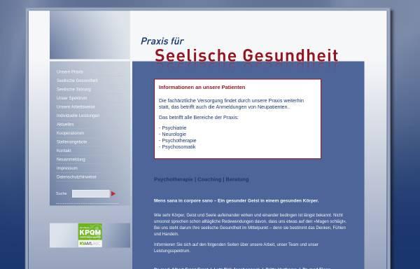 Vorschau von www.praxis-seelische-gesundheit.de, Praxis für seelische Gesundheit- Gemeinschaftspraxis für Psychiatrie, Psychotherapie und Psychosomatik