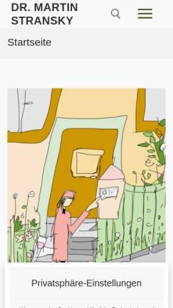 Vorschau der mobilen Webseite home.arcor.de, Verhaltenstherapie - Dr. Martin Stransky