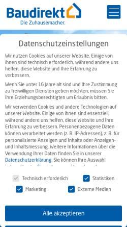 Vorschau der mobilen Webseite www.baudirekt.de, Baudirekt GmbH