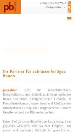 Vorschau der mobilen Webseite www.passivbau.net, Blohm, Stephan