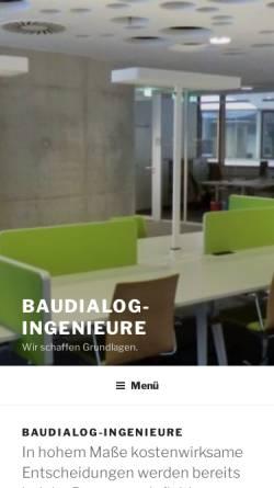 Vorschau der mobilen Webseite www.baudialog-ingenieure.de, Ficke, Hans-Gerd