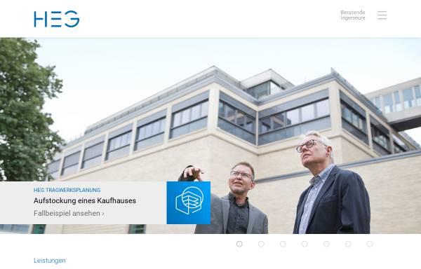 Vorschau von www.ingenieure-heg.de, HEG Beratende Ingenieure GmbH