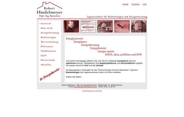 Vorschau von www.hindelmeyer.de, Hindelmeyer, Robert