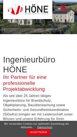 Vorschau der mobilen Webseite www.herbert-hoene.de, Höne, Herbert